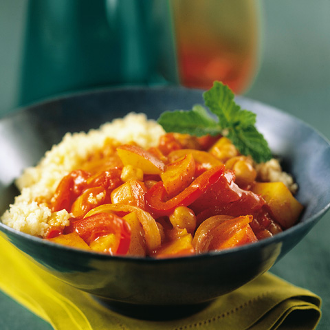 Curry di verdure con cuscus