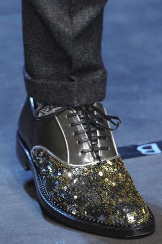 Dettaglio di sfilata dalla collezione di Dolce&Gabbana.